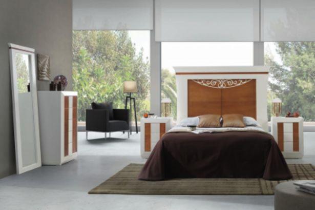 Oferta de Dormitorio de matrimonio completo : Blanco – Cerezo Patinado por 1890€