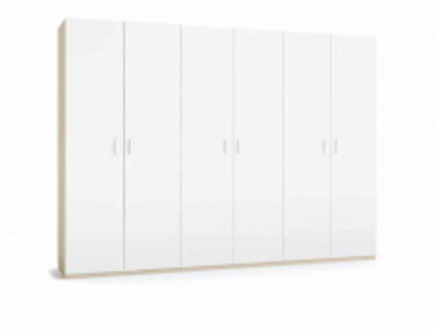 Oferta de Armario Blanco 6 puertas lisas habatibles por 768,9€