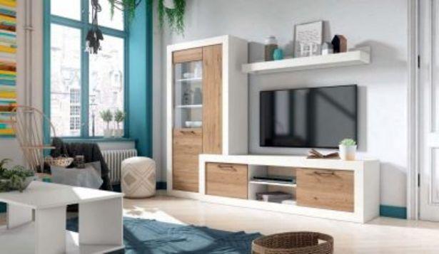 Oferta de Mueble de salón blanco mate y naturale por 704,5€