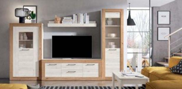 Oferta de Mueble de salón moderno Naturale y blanco mate por 829,08€