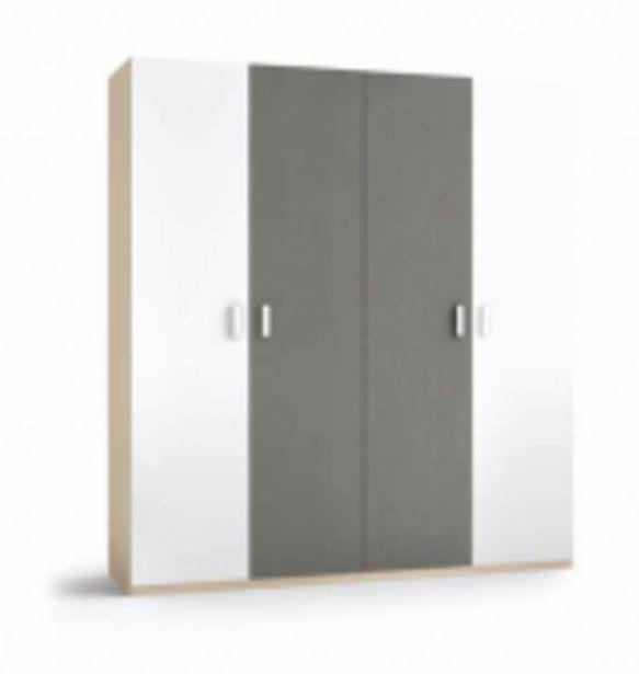Oferta de Armario 4 Puertas blanco y pizarra por 691,9€