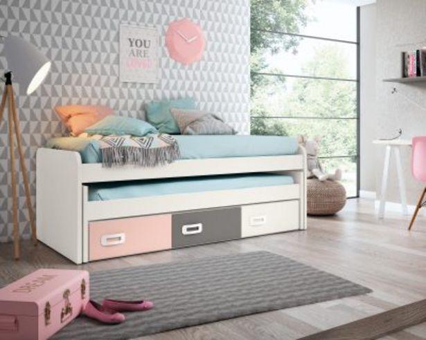 Oferta de Dormitorio juvenil completo BLANCO PORO – ROSA NUBE – GRIS TORMENTA por 876,49€