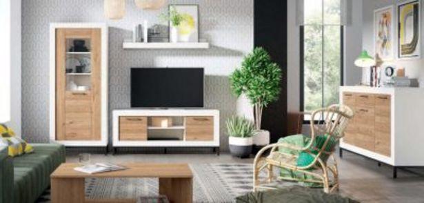 Oferta de Mueble de salón blanco mate y naturale por 1190,7€