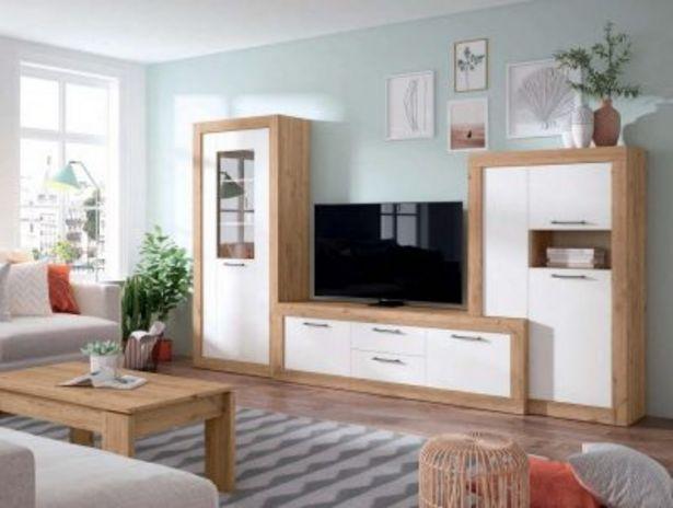 Oferta de Mueble de salón Naturale y blanco mate por 1023,12€