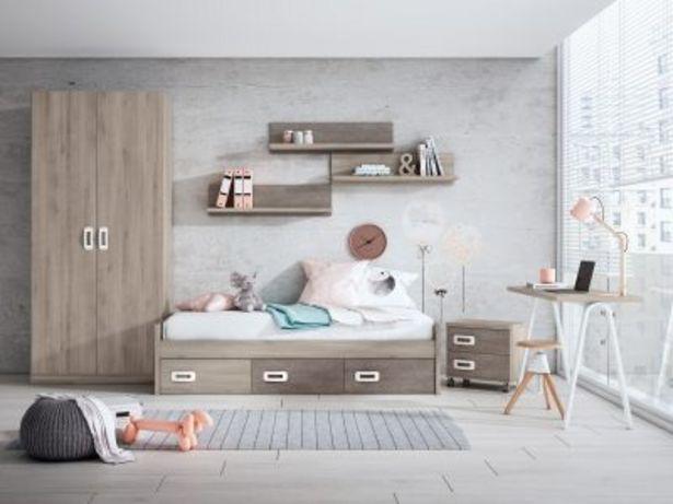 Oferta de Dormitorio juvenil completo IRON – STONE ROCK por 955,87€