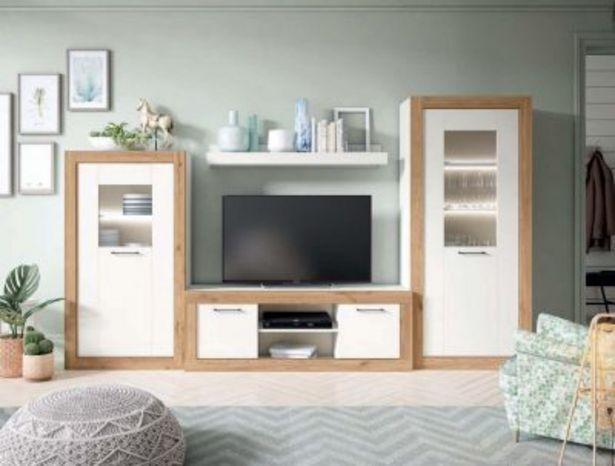 Oferta de Mueble de salón blanco mate y naturale por 936,02€