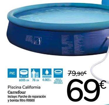 Oferta de Piscina California Carrefour por 69€