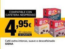 Oferta de Café extra intenso, suave o descafeinado SIENA por 4,95€