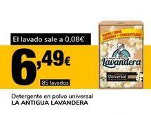 Oferta de Detergente en polvo universal LA ANTIGUA LAVANDERA por 6,49€