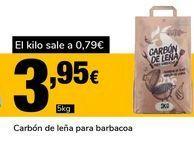 Oferta de Carbón de leña para barbacoa por 3,95€