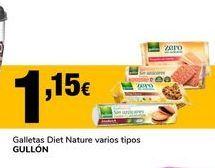 Oferta de Galletas diet nature varios tipos GULLON por 1,15€