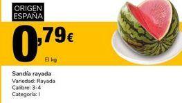 Oferta de Sandía rayada por 0,79€