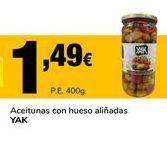 Oferta de Aceitunas con hueso aliñadas YAK por 1,49€