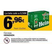 Oferta de Cerveza Heineken por 6,96€