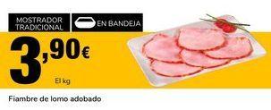 Oferta de Fiambre de lomo adobado por 3,9€
