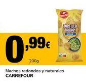 Oferta de Nachos redondos y naturales CARREFOUR por 0,99€