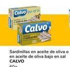 Oferta de Sardinillas en aceite de oliva o en aceite de oliva bajo en sal CALVO por 1€