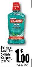 Oferta de Enjuague bucal  Plax Soft Mint Colgate, 250 ml por 1€