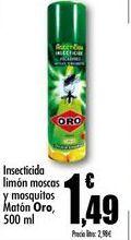 Oferta de Insecticida limón moscas y mosquitos Matón Oro, 500 ml por 1,49€