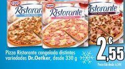 Oferta de Pizza Ristorante congelada distintas variedades Dr.Oetker, desde 330 g por 2,55€