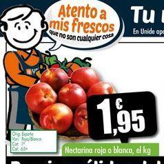 Oferta de Nectarina roja o blanca, el kg por 1,95€