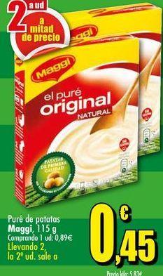 Oferta de Puré de patatas Maggi, 115 g por 0,45€