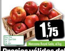Oferta de Manzana Royal Gala, el kg por 1,75€