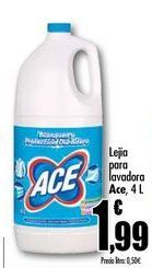 Oferta de Lejía para lavadora Ace, 4 L por 1,99€