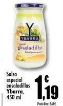 Oferta de Salsa especial ensaladillas Ybarra, 450 ml por 1,19€