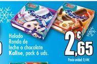 Oferta de Helado Ronda de leche o chocolate Kalise, packs 6 uds. por 2,65€