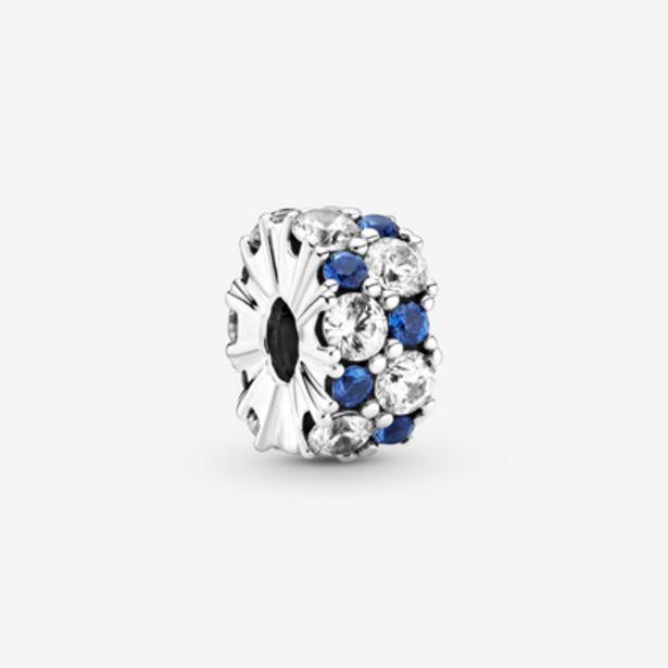 Oferta de Charm de Clip Brillante Transparente y Azul por 49€