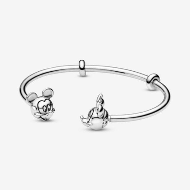 Oferta de Pulsera Moments en plata de ley Abierta Mickey y Minnie por 99€