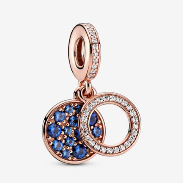 Oferta de Charm Colgante Doble Disco Azul Brillante por 69€