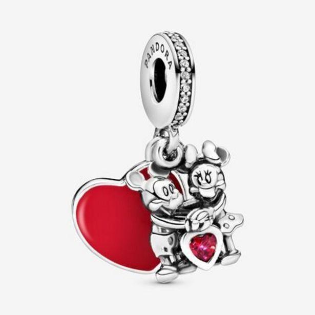 Oferta de Charm colgante en plata de ley Minnie y Mickey con Amor por 69€