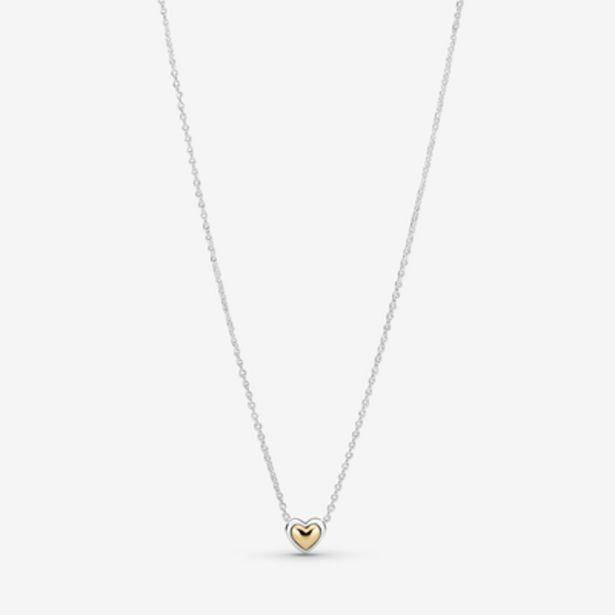 Oferta de Collar Corazón de Centro Dorado por 99€