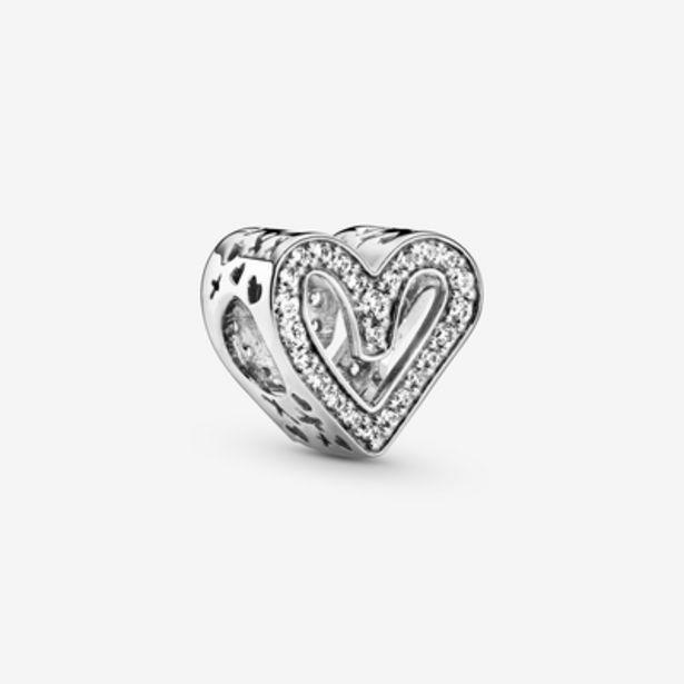 Oferta de Charm Boceto de Corazón Brillante por 49€