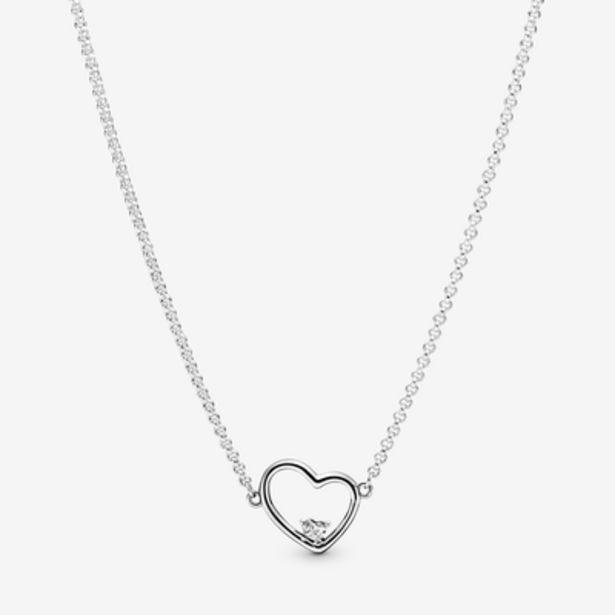 Oferta de Collar en plata de primera ley Corazón de Amor Asimétrico por 69€