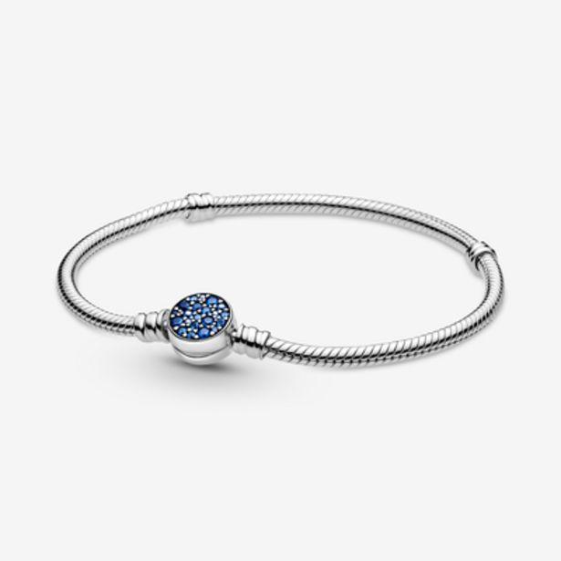 Oferta de Pulsera Moments Cadena de Serpiente Cierre Azul Brillante por 69€