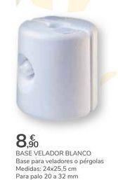 Oferta de BASE VELADOR BLANCO por 8,9€
