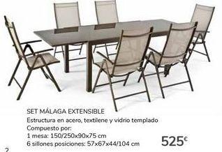 Oferta de SET MÁLAGA EXTENSIBLE por 525€