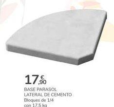 Oferta de BASE PARASOL LATERAL DE CEMENTO por 17,9€