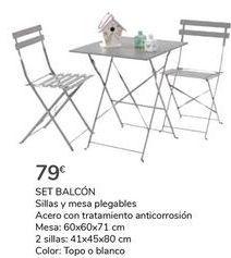 Oferta de SET BALCÓN  por 79€