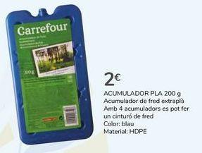 Oferta de ACUMULADOR PLANO  por 2€