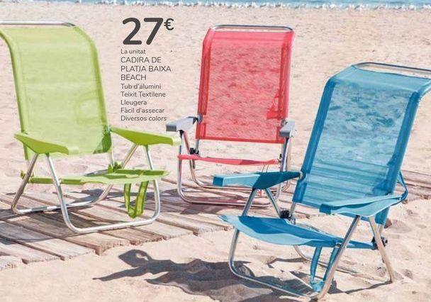 Oferta de SILLA PLAYERA BAJA BEACH por 27€