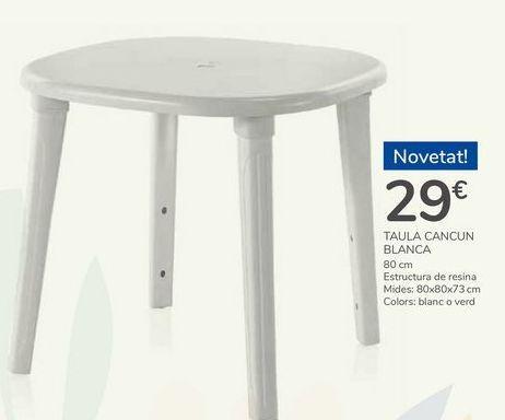 Oferta de MESA CANCÚN BLANCA por 29€