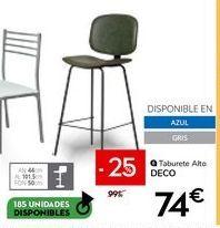 Oferta de Taburete alto por 74€