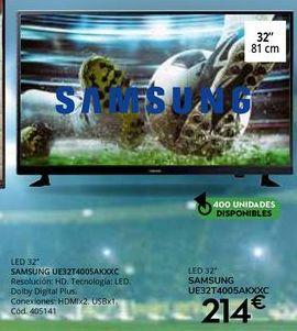 Oferta de Tv led Samsung por 214€