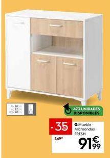 Oferta de Mueble para microondas por 91,99€