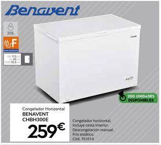 Oferta de Congelador horizontal Benavent por 259€