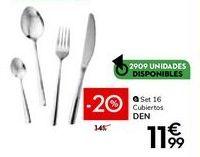 Oferta de Cubiertos por 11,99€